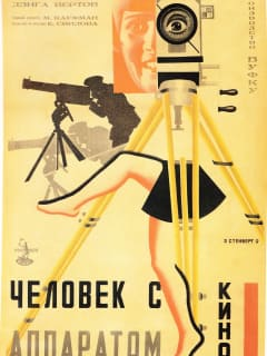 Russian poster for Man with a Movie Camera directed by Dziga Vertov