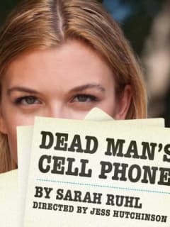 poster for Sarah Ruhl's play Dead Man's Cell Phone