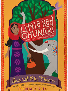 poster for Little Red Chunari at Scottish rite Theater