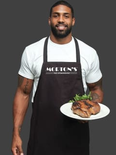 Celebrity Servers with Houston Texans Arian Foster at Morton's The Steakhouse