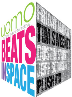 poster for UOMO music showcase with Tim Sweeney