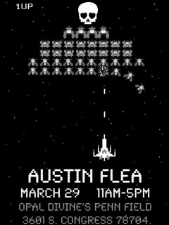 poster for March 2014 Austin Flea