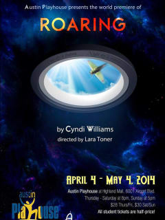 poster for Roaring by Cyndi Williams for Austin Playhouse