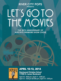 """poster for River City Pops """"Let's Go to the Movies:"""