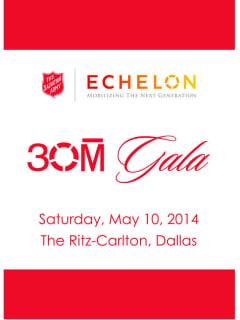 The Salvation Army Echelon 30M Gala