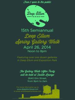 2014 Deep Ellum Spring Gallery Walk