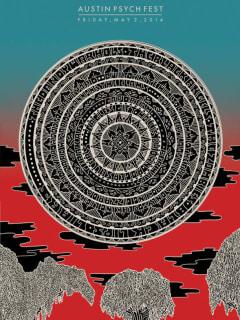 poster for 2014 Austin Psych Fest