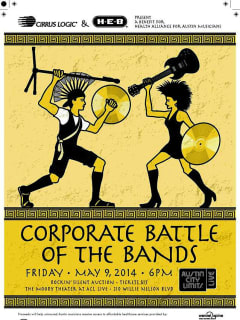 2014 poster for HAAM Corporate Battle of the Bands
