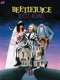 poster for the Action Pack Beetlejuice quote along