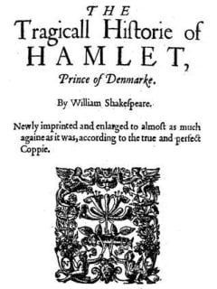 original cover of William Shakespeare's Hamlet