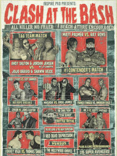 poster for Inspire Pro Wrestling Clash at the Blash