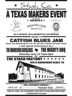 """Stash Co. hosts """"A Texas Makers Event and Catfish Blues Jam"""""""