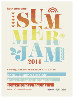 poster for KUTX Summer Jam 2014 at ABGB