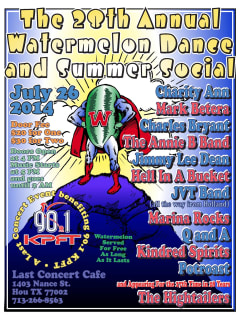 28th Annual Watermelon Dance and Summer Social benefiting KPFT 90.1 FM