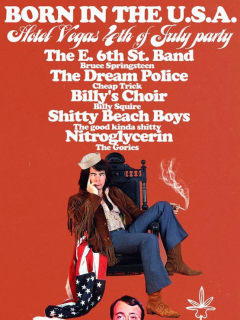 poster for Hotel Vegas Born in the USA show fourth of july 2014