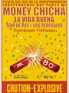 poster for Empire Control Room's Explosive Fiesta del dia de independencia