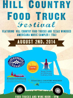 poster for Hill Country Food Truck Festival in Luckenbach
