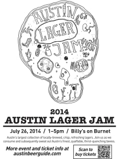 first annual Austin Lager Jam 2014 poster