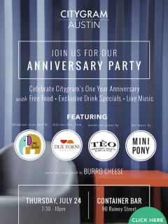 poster Citygram Anniversary Party 2014