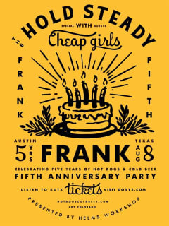 poster Frank Fifth Anniversary with the Hold Steady