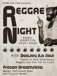 poster Reggae Night at Hotel San Jose