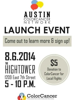 poster Austin ColorCancer Network launch event Hightower