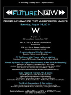 poster Grammy FutureNow at w austin