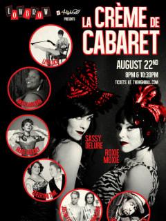 poster La Creme de Cabaret at lowbrow at highball