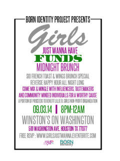"""Born Identity Project hosts """"Girls Just Wanna Have Funds"""" Midnight Brunch"""
