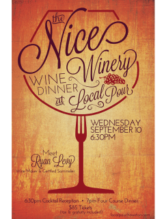 Nice Winery Wine Dinner
