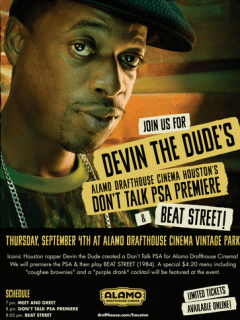 Film screening hosted by Devin the Dude: Beat Street