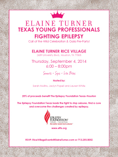 "Texas Young Professionals Fighting Epilepsy ""Call of the Wild"" Celebration and Gala Pre-Party"