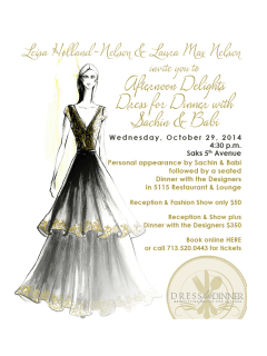 "None - Recipe for Success Foundation presents ""High Tea and High Fashion: Dress for Dinner with Sachin and Babi"""