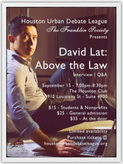 "The Franklin Society presents ""David Lat: Above the Law Q&A"""