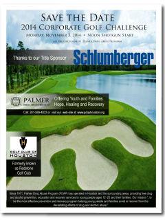 2014 Annual Palmer Drug Abuse Program Houston Corporate Golf Challenge