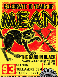 poster Mean Eyed Cat 10th Anniversary celebration
