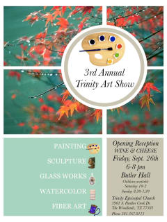 Third Annual Art Show at Trinity Episcopal Church