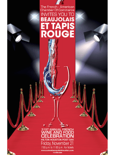 "French American Chamber of Commerce hosts ""Beaujolais et Tapis Rouge"""