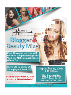 Blogger and Beauty Mixer