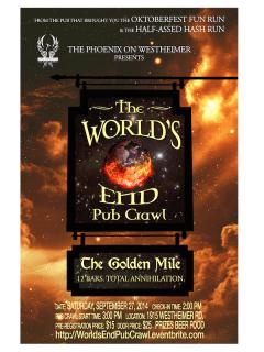 The World's End Pub Crawl benefiting Bel Inizio
