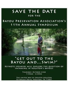 Bayou Preservation Association's 11th Annual Symposium