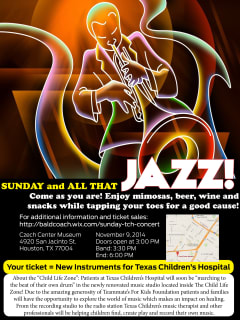 "A Concert benfiting Texas Children's Hospital: ""Sunday and all that Jazz"""