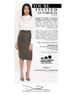 Designer apperance and trunk show: Christina Greene and David Peck