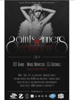 """HalloweenHTX - Saints and Sinners"" presented by Select Entertainment and Events"