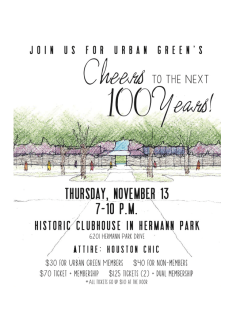 "Urban Green hosts ""Cheers to the Next 100 Years"""