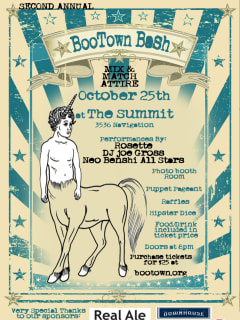 """BooTown's Second Annual Bash """"A celebration of all things wonderful and weird"""""""