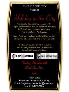 Singles in the City presents Holiday in the City