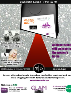 """GlamBag Holiday Edition"" benefiting The Women's Home"