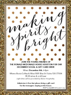 """Young Friends of the Ronald McDonald House Houston hosts """"Making Spirts Bright"""""""