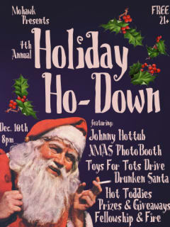 4th Annual Mohawk Holiday Ho-Down poster 2014